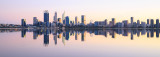 Perth and the Swan River at Sunrise, 25th June 2017