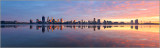 Perth and the Swan River at Sunrise, 8th July 2017