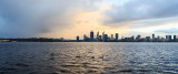 Perth and the Swan River at Sunrise, 24th July 2017