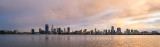 Perth and the Swan River at Sunrise, 25th July 2017