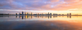 Perth and the Swan River at Sunrise, 30th July 2017