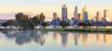 Perth and the Swan River at Sunrise, 1st August 2017