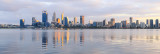 Perth and the Swan River at Sunrise, 5th August 2017