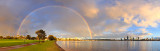 Rainbow at Sunrise over Perth and the Swan River, 10th August 2017