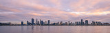 Perth and the Swan River at Sunrise, 21st August 2017