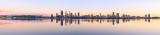 Perth and the Swan River at Sunrise, 26th August 2017