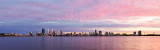 Perth and the Swan River at Sunrise, 28th August 2017