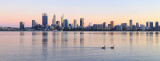 Perth and the Swan River at Sunrise, 5th September 2017
