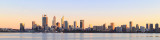 Perth and the Swan River at Sunrise, 13th September 2017