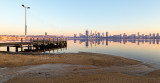 Perth and the Swan River at Sunrise, 9th October 2017