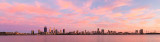 Perth and the Swan River at Sunrise, 8th December 2017