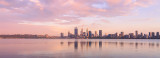 Perth and the Swan River at Sunrise, 12th December 2017