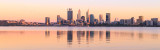 Perth and the Swan River at Sunrise, 14th December 2017