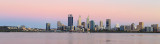 Perth and the Swan River at Sunrise, 24th December 2017
