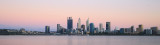 Perth and the Swan River at Sunrise, 26th December 2017