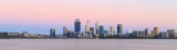 Perth and the Swan River at Sunrise, 31st December 2017