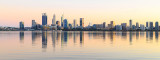 Perth and the Swan River at Sunrise, 25th April 2018