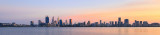 Perth and the Swan River at Sunrise, 14th May 2018