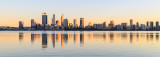 Perth and the Swan River at Sunrise, 19th May 2018