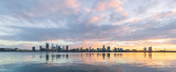 Perth and the Swan River at Sunrise, 1st June 2018