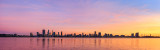 Perth and the Swan River at Sunrise, 30th June 2018
