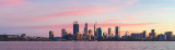 Perth and the Swan River at Sunrise, 1st July 2018