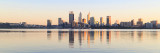 Perth and the Swan River at Sunrise, 6th July 2018