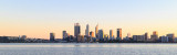 Perth and the Swan River at Sunrise, 8th July 2018