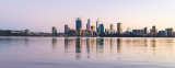 Perth and the Swan River at Sunrise, 9th July 2018