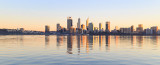 Perth and the Swan River at Sunrise, 10th July 2018