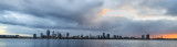 Perth and the Swan River at Sunrise, 15th July 2018