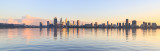 Perth and the Swan River at Sunrise, 26th July 2018