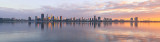 Perth and the Swan River at Sunrise, 28th July 2018