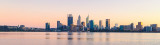 Perth and the Swan River at Sunrise, 31st July 2018