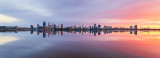 Perth and the Swan River at Sunrise, 5th August 2018