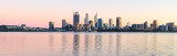 Perth and the Swan River at Sunrise, 24th August 2018