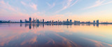 Perth and the Swan River at Sunrise, 23rd September 2018
