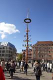 Maypole in market square