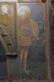 Istanbul Kariye Museum Warrior Saints SW Arcosolium march 2017 2448.jpg