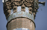 Iznik tiles on minaret