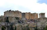 Lots of people visit the Acropolis