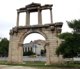 Hadrian's Arch, with the Acropolis in the background