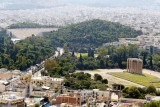 Hadrian's Arch, the Temple of Zeus, and the modern Olympic Stadium