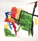 Maisie, Clayton and Papa's World of Art
