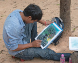 Artist at Angkor Wat