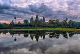 Angkor Wat Under Clouds