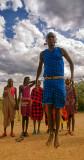Leaping Maasai Villager