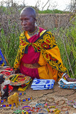 Woman Selling Collectibles, Masaai Village