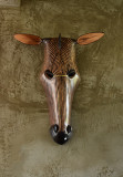 Carved Wooden Zebra Mask