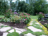 The view of front garden from the patio